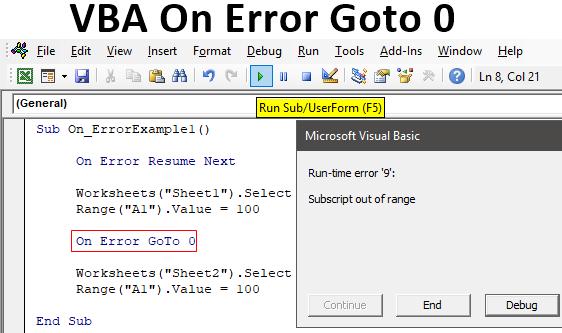 Vba On Error Goto 0 How To Use On Error Goto 0 In Excel Vba