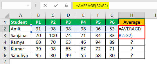 Write Formula in Excel Example 4.2