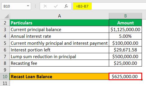mortgage recast  definition  calculation