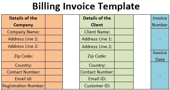 Billing Invoice Template Free Download Excel Pdf Csv Ods